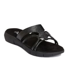 Take a look at this Black Wip Current Slide by A2 by Aerosoles on #zulily today!