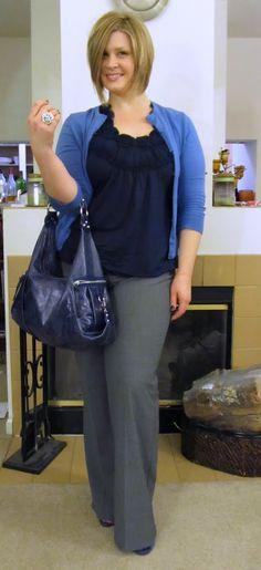 Atuendo de trabajo - gris, azul, lavanda