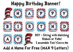 dr seuss birthday banner