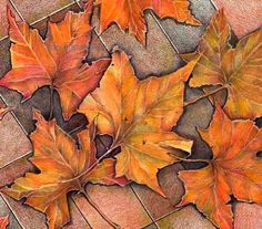 Fall leaves fall print western decor southwestern by MeerMemories, $18.00