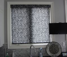 Charcoal Pattern Roller Blinds