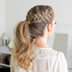 46 beautiful mother of the bride hairstyles to impress everyone # braidhairstyles . - 46 beautiful mother of the bride hairstyles to impress everyone # braidhairstyles …, - Braided Ponytail Hairstyles, Bride Hairstyles, Easy Hairstyles, Braid Ponytail, Hairstyle Ideas, Hairstyles For Women Long, Hairstyles For Nurses, Bob Hairstyle, Hairstyles For Weddings