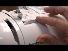 Wie bediene ich eine Nähmaschine
