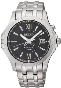Seiko Le Grand Sport Mens Kinetic Watch SKA549 -- You can get more details by clicking on the image.