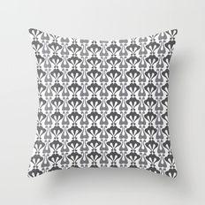 Vintage pattern grey Throw Pillow
