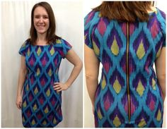 Julie like Suzan's ikat dress so much, she made one just like it!  We love the fabric choice and exposed zipper.  Check out Suzan's version on the Fabric Lady Blog: http://fabriclady3.blogspot.com/2015/01/ikat-beauty.html