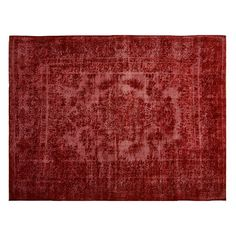 """Pre-Owned Persian Overdyed Carpet 9'3"""" x 12'3"""" (€3.340) ❤ liked on Polyvore featuring home, rugs, red, persian style rugs, persian style area rugs, persian rugs, red persian rug and hand-knotted rug"""
