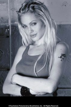 Angelina Jolie as Sway in Gone In Sixty Seconds. Not a real person, but if she were...that's my girl...