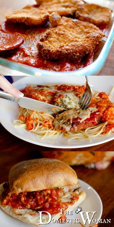 Tatstes just like Olive Gardens! The BEST Chicken Parmesan recipe! There are two tricks that make it WOW and save you time too! I Love Food, Good Food, Yummy Food, Great Recipes, Dinner Recipes, Favorite Recipes, Fast Dinners, Easy Meals, Chicken Parmesan Recipes