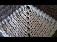 Pletenje - Dodavanje petlji iz poprečne niti između dvije prave - YouTube