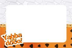 Convite,Moldura e Cartão Os Flintstones: