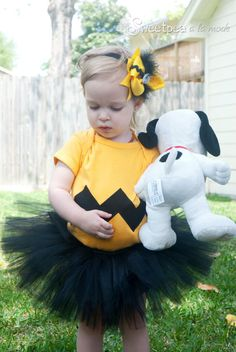 Charlie Brown Tutu  Charlie Brown Birthday Outfit  by atutudes, $24.95