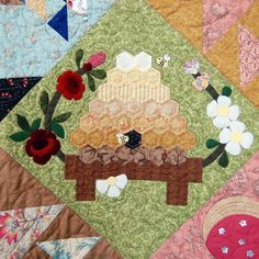 Bustling Beehive Applique Block of Month by Audrey - Diane - Craftsy