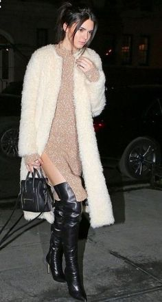 Kendall Jenner. Winter is coming. Street style Chic