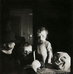 Haunted Air: Anonymous Halloween photographs from c.1875–1955. The photographs in Haunted Air provide an extraordinary glimpse into the traditions of this macabre festival from ages past, and form an important document of photographic history. These are the pictures of the dead: family portraits, mementos of the treasured, now unrecognizable, and others.