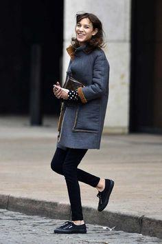 Coat and black