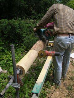 Resultado de imagem para fabriquer un tour a bois Woodworking Techniques, Woodworking Projects Diy, Woodworking Jigs, Diy Wood Projects, Carpentry, Wood Crafts, Wood Tools, Diy Tools, Wood Mill