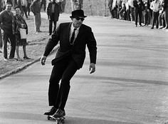 Skateboarding at NYC in the 60's