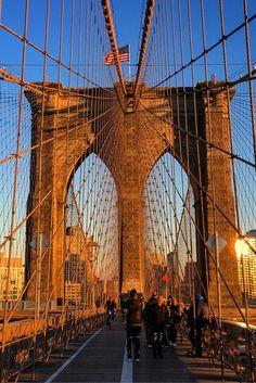 Brooklyn Bridge - via The City Sidewalks on Instagram