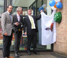 Celebrating the opening of the public access defibrillators network of AED's in Venray, The Netherlands where over 50 Rotaid were placed on key locations in the city.