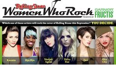 "Music magazine Rolling Stone is hosting a contest to see which rising female artist or female-fronted band will join other distinguished ladies in the music industry on its special ""Women Who Rock"" issue. Among the artists competing are Dev, Rita Ora, and Rye Rye, along with female-fronted acts Karmin, Delta Rae, and Sleeper Agent. Read the full story here: http://thecelebritycafe.com/feature/2012/06/rising-acts-karmin-dev-rita-ora-rye-rye-and-indie-bands-delta-rae-and-sleeper-agent-"