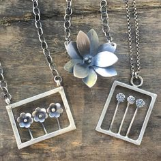 "@chrissygemmilljewels ""Lotus / Buttercup / Wildflowers  handmade and fabricated in sterling silver available at chrissygemmilljewels.etsy.com and @musefrederick""...pinned by ♥ wootandhammy.com, thoughtful jewelry."