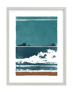 """""""Screen Print Beach"""" - Art Print by Heather Francisco in beautiful frame options and a variety of sizes."""