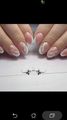 Lines On Nails, Gelish Nails, Art Clipart, White Nails, Nail Arts, Wedding Nails, Nail Designs, Clip Art, How To Make