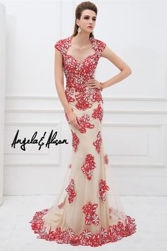 Angela and Alison -Mother of Bride   Long Prom - 41102 Comes in Red Nude or  Navy Nude! Wood Formals in Lawton OK 1d313b2d1d0c