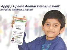 Apply/Update For Aadhar Details In Bank Branch  #aadharenrollment, #applyforaadhatatbank, #updateaadhardetailsinbank