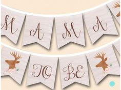 rustic woodland mama to be baby shower banner