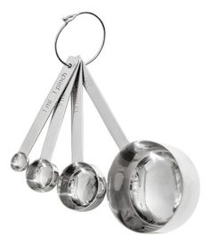 4-delad måttsats i metall | Silver | H&m home | H&M SE