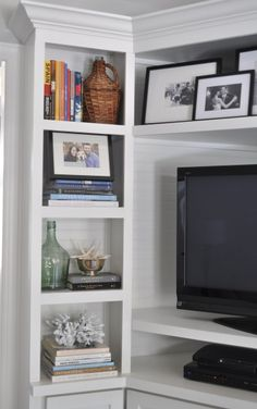 tv book case styling