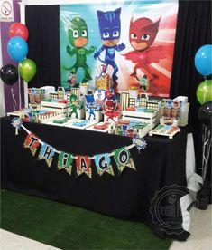 PJ MASKS - HEROES EN PIJAMA - 7 th Birthday Thiago Birthday Party Ideas | Photo 3 of 10