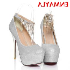 31.18$  Buy here - https://alitems.com/g/1e8d114494b01f4c715516525dc3e8/?i=5&ulp=https%3A%2F%2Fwww.aliexpress.com%2Fitem%2FENMAYER-2014-New-Women-s-Red-Bottom-Wedding-Shoes-Thin-High-Heel-Stiletto-Sexy-Ankle-Straps%2F1670520416.html - ENMAYER 2014 New Women's Red Bottom Wedding Shoes Thin High Heel Stiletto Sexy Ankle Straps Rhinestone Chains Platform Pumps