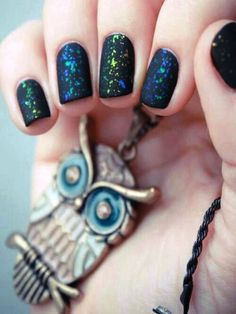 Matte glitter nails!