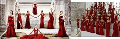 Valentino's 2010 Red Dress collection