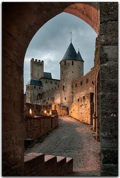 The fortified town of Carcassone was founded by the Visigoths in the fifth century on the remnants of a Roman fortress.