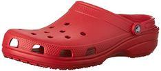 Crocs Classic, Mixte Adulte Sabots, Rouge (Pepper), 45-46 EU: From Shops to Seashore This Classic Crocs shoe is still a massive best…