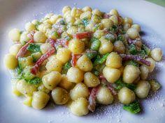 chicche di patate con zucchine e speck