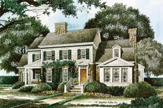 Country Style House Plan - 4 Beds 3.5 Baths 3700 Sq/Ft Plan #429-339 - Dreamhomesource.com