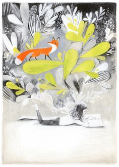 © Isabelle Arsenault / illustration from the book 'Jane, le renard & moi'