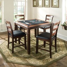 Lovely Amish Handcrafted Dakota Game Table | Game Tables, Amish Furniture And Pool  Tables