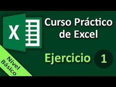 Curso Práctico de Excel. Ejercicio 01. - YouTube Microsoft Excel, Software, Ok Computer, Excel Hacks, Y Words, Industrial Engineering, Training And Development, Weight Loss Help, Templates Printable Free