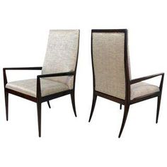 Pair of Highback Armchairs after T.H. Robsjohn-Gibbings