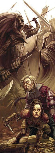 Phantom Battle in D Players Handbook II, by Eva Widermann. Copyright Wizards of the Coast, 2006.