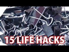 15 things [Conclusion life hack Video] binder clip that can be a double clip of 100 Hitoshi - YouTube