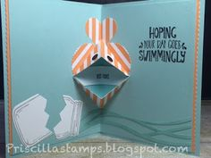 Pop-up fish card... how CUTE!!! Stampin' Amigos: A Card and a Video