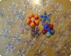 Recycled-Art Birthday Party.    Craft #1: Plastic bottle flowers