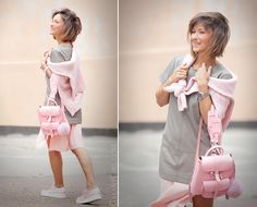 Elena Galant of galantgirl.com styling the Belle baby backpack by #grafea